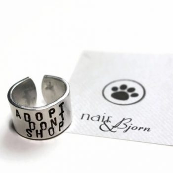 Adopt Don't Shop Unisex Ring