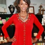Judi Shekoni wears a Nair & Bjorn statement necklace at the GBK Celebrity Gift Lounge Honoring the Oscars