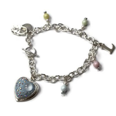 Pastel My Heart Initial Charm Bracelet