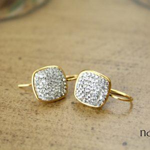 Pavé Squares Swarovski Crystal Earrings – As Seen on Veep