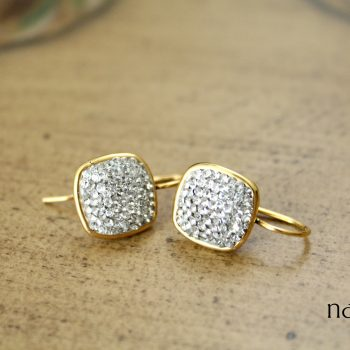 Pave Squares Diamonds are Forever Earrings