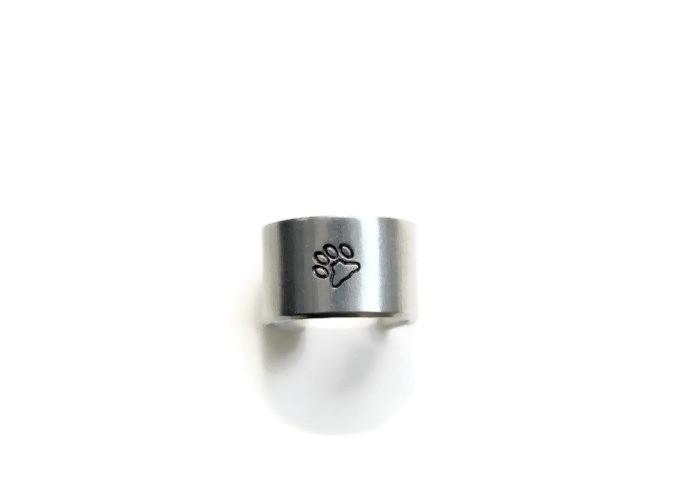 Love Paw Print Adjustable Ring