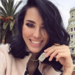 Model Raquel Balencia wearing Nair & Bjorn dog tag