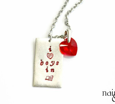 Boys in Books Necklace