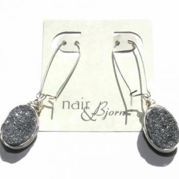 Silver Druzy Sparkle Earrings