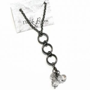 Three Charms Herkimer Diamond Necklace