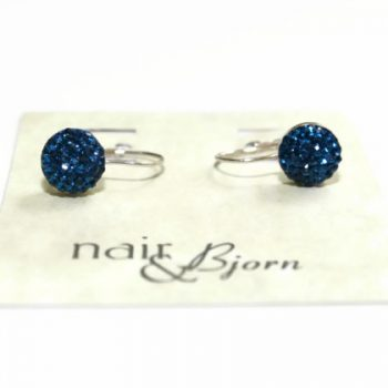 Why So Blue Pave Mini Leverback Earrings