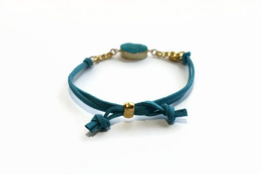 Druzy & Gold Bracelet