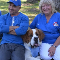 Cesar Millan and Pam Henry, Founder of Sunny Saints Rescue