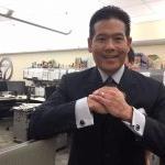 Rob Fukuzaki wears Nair & Bjorn cuff links