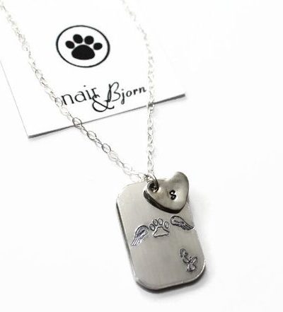 Paw Print Angel Necklace