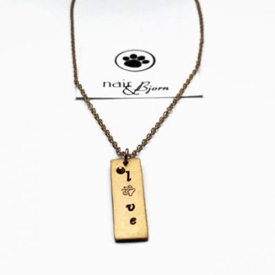 """Love"" Gold Necklace"