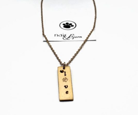 """""""Love"""" Gold Necklace"""