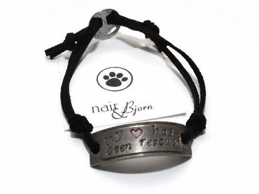 My Heart has been Rescued Vegan Bracelet