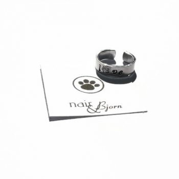 All You Need Is Love Small Paw Print Ring