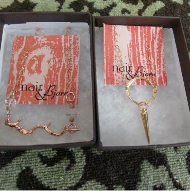 Rose Gold Twig and Eternity Point Necklaces