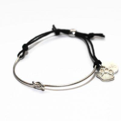 Love Knot Paw Print Bracelet