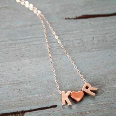 Initial 'n Heart Necklace