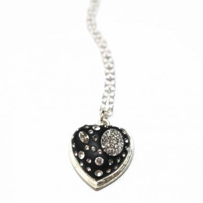 My Silver Druzy Heart Necklace