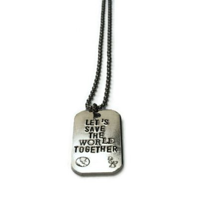 Let's Save The World Together Necklace