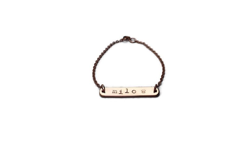 Rose Gold Plated Furbaby ID Bracelet